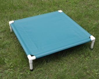 Outside Dog Bed, Raised PVC Cot, Square Raised Canvas Dog Bed Small Pet Beds, Cat Window Bed, 13 Colors 30x30x6 Dogs Up To 80 Pounds.