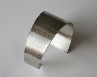 Angled Minimal Cuff Bracelet, Metal Cuff, SIlver Color Cuff, Modern Cuff, Modern Jewelry, Nickel Cuff, Brushed Finish Metal, Angled Metal