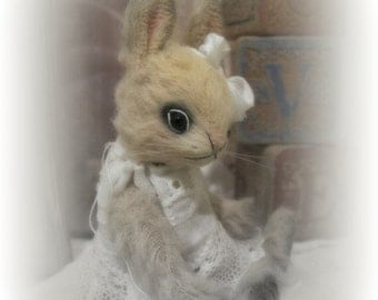 "3.25""  Mini Bunny Rabbit Digital PDF e-Pattern to make Miniature Booh Bear Bunny Genevieve"