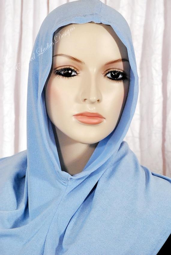 Hoodie - ON SALE Powder Blue Hoodie For Hijab