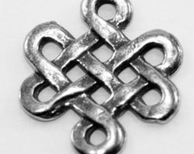2 x Celtic endless Knot pendant or charm  l Australian Pewter (R95)