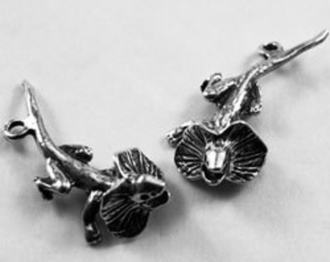 2 x Frill Necked Lizard charm or pendants Australian Pewter af568