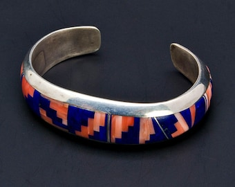 Navajo Inlay Bracelet - Norton Becenti - Santa Fe Indian Market Winner