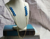 Atwood Crochet Necklace- Dark Turquoise