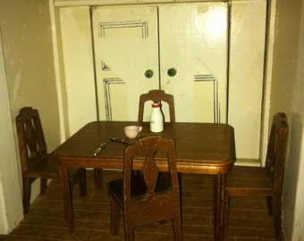 Strom Becker Wooden Table and Four Chairs
