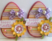 Sweet Easter Egg Embellishments - Happy Easter - Flowers