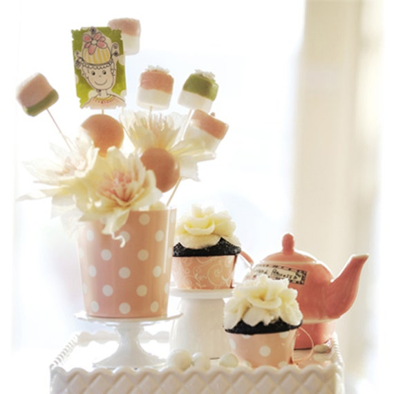 baby shower decorations polka dot damask flower vase pot baby