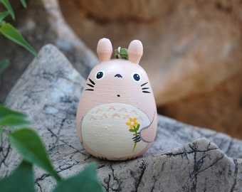 TOTORO Doll key chain rings Studio Ghibli toy G6 (L Size cream ivory)