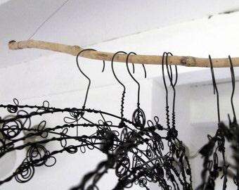 Decorative Hanger in wire - Rosebud-