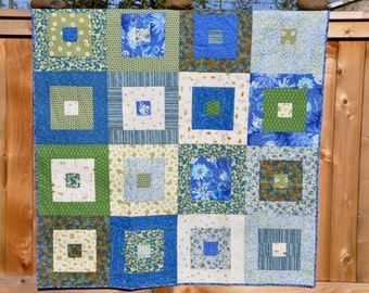 Modern Throw Quilt - Square Stepping