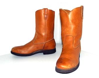 Tan Brown Wolverine  Cowboy Work Boots size 10 B