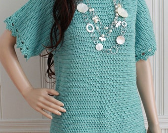 Easy Boat Neck Tunic Crochet Pattern PDF