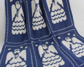 PA159 Angel Afghan Crochet Pattern PDF