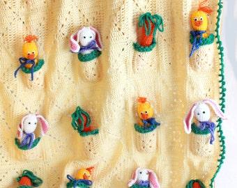 Pocket Pals Afghan Crochet Pattern PDF