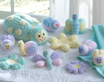 Baby Bugs and Toys Crochet Pattern PDF