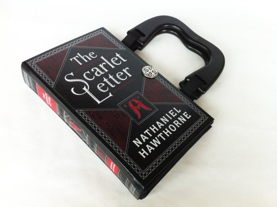 The Scarlet Letter Book Purse - Leatherbound Recycled Book Clutch