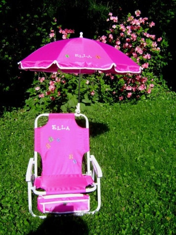 Personalized Beach Chair Amp Umbrella For Kids By Dmzdesigns