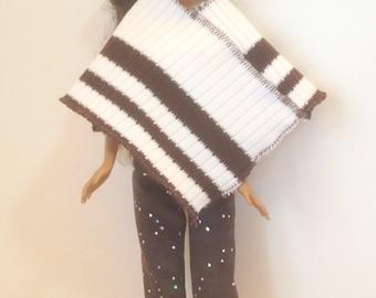 Handmade Barbie Clothes - Poncho Pants Top (Q308)