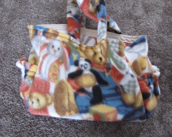 Fleece Dolly Diaper Bag