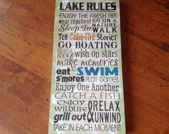 Lake,Family rules,Lake rules, Lake sign, go jump in the lake, at the lake, lake decor, life is better at the lake, lake weddings