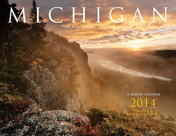 2014 Michigan Calendar - 50% Recycled Paper - FREE SHIPPING