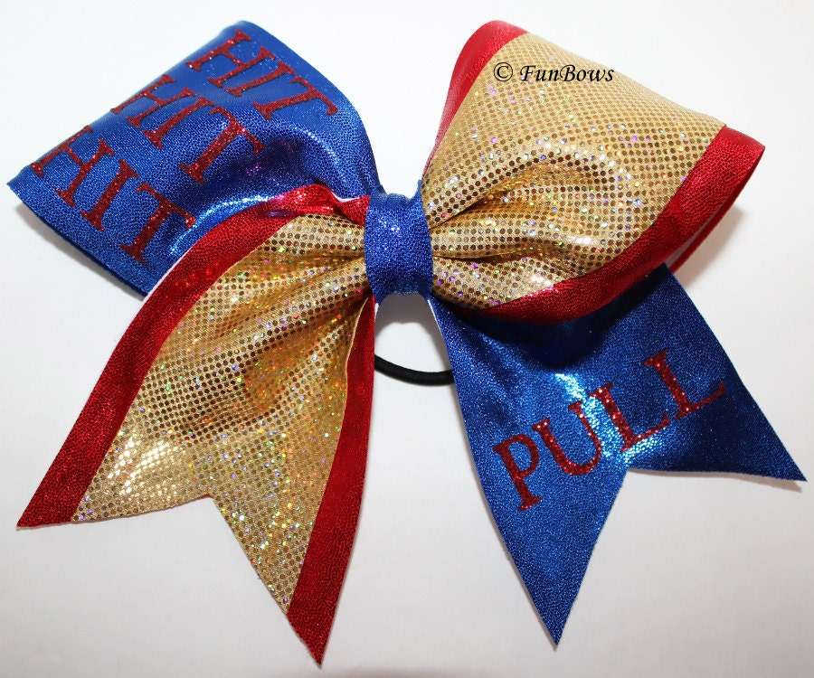 COOL Cheerleading Bow Hit Hit Hit Pull in glitz