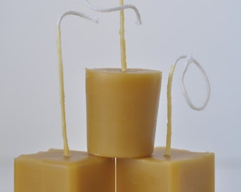 Beeswax Votive Candles Waldorf Table Decor Hand Poured