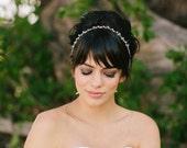 Linnea, Bridal Headband, Delicate Rhinestones, Boho Halo, Crown, Wedding Headpiece, Bridal Hair Piece, crystal bridal headband, boho