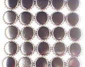 100 Chrome Linerless Silver Bottle Cap - Silver Crowns - No liners - Without liners - 1 inch circles