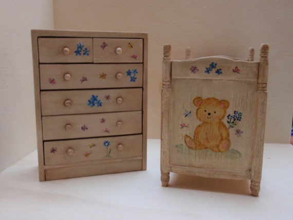 dollhouse miniature child bedroom set 1 12 scale