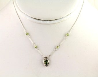 Peridot Necklace. Listing  152036723