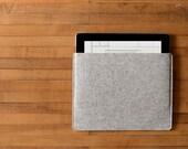 Simple iPad Air Sleeve - Grey Felt - Long Side Opening