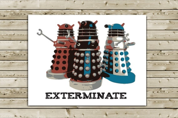 Items similar to Funny Dalek Doctor Who Birthday Greeting ...