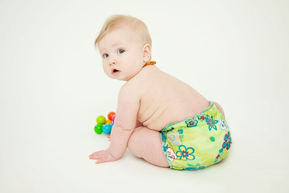 sugar skulls - day of the dead cloth diaper - custom color - reusable organic hemp nappy - fitted one size - snap closure
