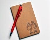Alice in Wonderland | Tweedledee and Tweedledum | Gift | Men | Moleskine Blank Journal | Notebook | Sketchbook | Plain Brown | Writing | Art