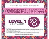 COMMERCIAL LICENSE - Level 1 (up to 50 units)