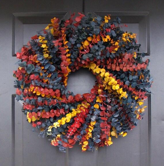 Year Round Wreath- Dried Floral Wreath- Floral Arrangement- Eucalyptus Wall Decor- Eucalyptus Wreath