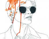 David Bowie Print (The Man Who Fell to Earth)