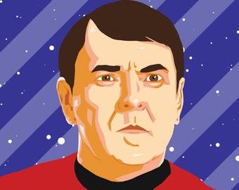 "Montgomery ""Scotty"" Scott (STAR TREK) Portrait Print"