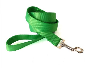 Large Dog Leash Solid Nylon - Pick your color and length