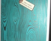 Teal Wood ..Magnetic Dry Erase Memo Board / Housewarming Gift / Office Decor / Organization / Desk / Message Board / CoWorker / Wall Decor