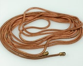 """Long 39 inch Antique solid COPPER round Snake Chain 1mm with end loops  - One 39"""" vintage chain"""