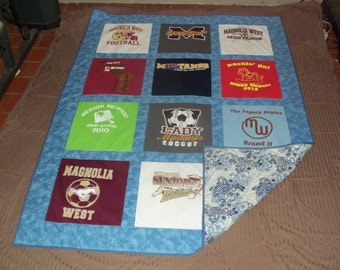 Tshirt Quilt  for Cancer Patients