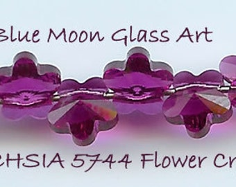 5mm FUCHSIA Swarovski Crystals 5744 FLOWER - 6