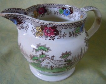 SALE 35.00 Was 42.50 Antique EARLY English TRANSFERWARE ...