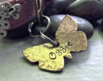 Le Petit Butterfly Pet tag, Cute small tag