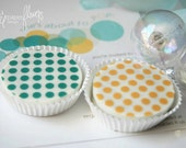 Designer Chocolate Covered Oreos -Any TWO COLORS Polka-Dots Design Birthday Favor Girl Party