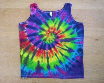 Pretty Spiral Tie Dye Tank Ladies XL