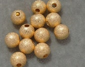 12 Gold Plated Sparkle Spacers 10mm  Findings (621)