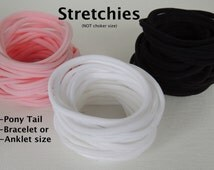STRETCHIES ( 25 piece) for Pony Tail holders, Bracelets or Anklets